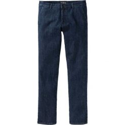 Dżinsy chino bonprix ciemnoniebieski. Niebieskie jeansy męskie z dziurami marki bonprix. Za 89,99 zł.