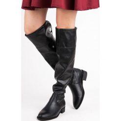Buty zimowe damskie: WSUWANE KOZAKI PŁASKIE