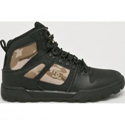 DC - Buty Pure High-Top Wr Boot. Szare buty trekkingowe męskie DC, z materiału, na sznurówki, outdoorowe. Za 579,90 zł.