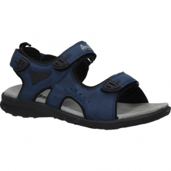 Granatowe sandały na rzepy American BIF1906. Czarne sandały damskie American. Za 59,99 zł.