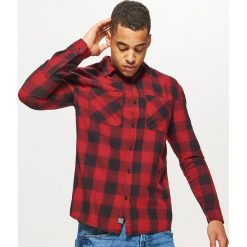 Koszula w kratę - Czerwony. Czerwone koszule męskie na spinki Cropp, l. Za 89,99 zł.