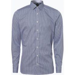 OLYMP No. Six - Koszula męska łatwa w prasowaniu, niebieski. Niebieskie koszule męskie na spinki marki OLYMP No. Six, m, w kratkę. Za 199,95 zł.
