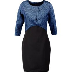 Sukienki hiszpanki: Fracomina Sukienka etui black/zaffiro