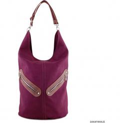 KOFI - duża torba worek - bordowa. Czerwone torebki klasyczne damskie Pakamera, duże. Za 195,00 zł.