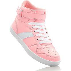Buty sportowe dziewczęce: Wysokie sneakersy bonprix koralowy