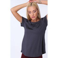 T-shirt luźny fason grafitowy MR16618. Szare t-shirty damskie Fasardi, l. Za 39,00 zł.