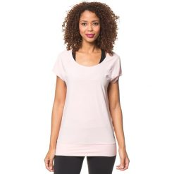 """Koszulka funkcyjna """"Clarity"""" w kolorze jasnoróżowym. Czerwone topy sportowe damskie marki Roxy, xs, z materiału, z krótkim rękawem. W wyprzedaży za 84,95 zł."""