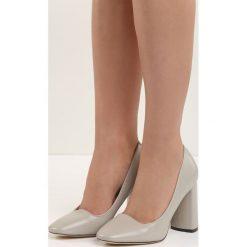 Szare Czółenka Bodice Ripper. Szare buty ślubne damskie marki Born2be, na wysokim obcasie, na słupku. Za 69,99 zł.