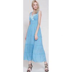 Sukienki hiszpanki: Niebieska Sukienka Summer Sun