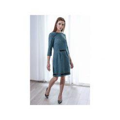 Sukienka BELISA. Niebieskie sukienki na komunię marki Anna bartula, l, z aplikacjami, z satyny, dopasowane. Za 349,00 zł.