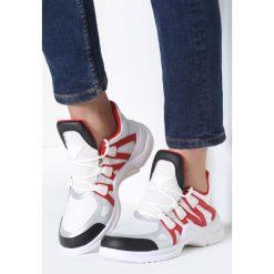Biało-Czerwone Sneakersy Life Must Go On. Szare sneakersy damskie marki other, z materiału. Za 109,99 zł.