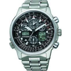ZEGAREK CITIZEN Radio Controlled JY8020-52E. Czarne, analogowe zegarki męskie CITIZEN, sztuczne. Za 3860,00 zł.