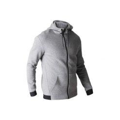 Bluza na zamek z kapturem Gym & Pilates 560 męska. Szare bluzy męskie rozpinane DOMYOS, m, z bawełny, z kapturem. Za 129,99 zł.