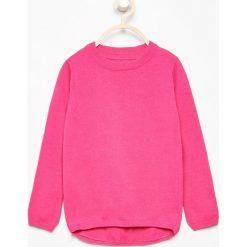 Swetry damskie: Bawełniany sweter z kokardkami na plecach - Różowy