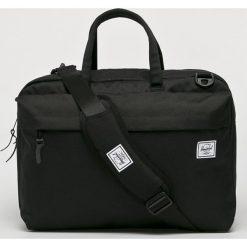 Herschel - Torba Sandford. Czarne torby na laptopa marki Herschel, w paski, z materiału. Za 469,90 zł.