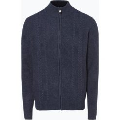 Nils Sundström - Kardigan męski, niebieski. Niebieskie swetry rozpinane męskie Nils Sundström, l, z dzianiny, klasyczne, z klasycznym kołnierzykiem. Za 299,95 zł.