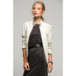 Odzież damska: Skórzana kurtka w kolorze beżowym