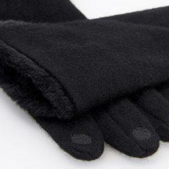 Rękawiczki z wełną - Czarny. Czarne rękawiczki damskie Reserved, z wełny. Za 49,99 zł.