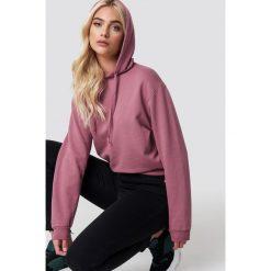 NA-KD Basic Bluza z kapturem basic - Pink. Różowe bluzy rozpinane damskie NA-KD Basic, z bawełny, z długim rękawem, długie, z kapturem. Za 100,95 zł.