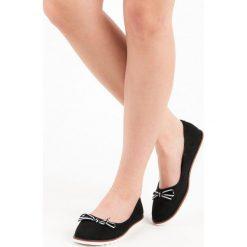 Baleriny damskie lakierowane: Zamszowe baleriny MERG czarne
