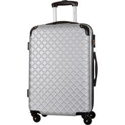 Walizka w kolorze srebrnym - 62 l. Szare walizki Platinium, z materiału. W wyprzedaży za 199,95 zł.