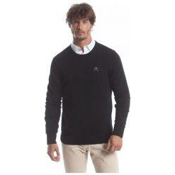 Polo Club C.H..A Sweter Męski M Czarny. Czarne swetry klasyczne męskie Polo Club C.H..A, m, z okrągłym kołnierzem. W wyprzedaży za 239,00 zł.