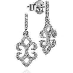Kolczyki damskie: RABAT Białe Złoto Kolczyki – złoto białe 585, Diament 0,39ct