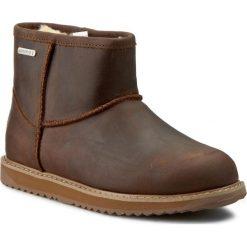 Buty EMU AUSTRALIA - Paterson Leather Mini W11350 Oak. Brązowe buty zimowe damskie EMU Australia, ze skóry. W wyprzedaży za 399,00 zł.