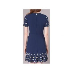Sukienki krótkie MICHAEL Michael Kors  EMBELL FLOUNCE SS DRS. Niebieskie sukienki mini marki MICHAEL Michael Kors, l, z krótkim rękawem. Za 1039,20 zł.