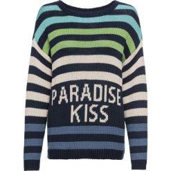 Sweter w paski bonprix ciemnoniebieski w paski. Niebieskie swetry oversize damskie bonprix. Za 109,99 zł.