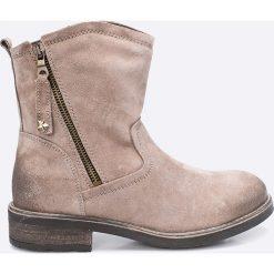 Tamaris - Botki. Szare buty zimowe damskie marki Tamaris, z materiału, na sznurówki. W wyprzedaży za 169,90 zł.