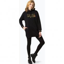 Tommy Hilfiger - Sukienka damska – Tommy Icons Fleece Dress, czarny. Czarne sukienki balowe marki TOMMY HILFIGER, s, z długim rękawem, mini. Za 599,95 zł.