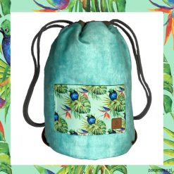 BLUE BIRDS & LIGHT BLUE dwustronny plecak SACK. Szare plecaki męskie marki Pakamera. Za 165,00 zł.
