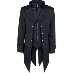Poizen Industries Barnes Coat Płaszcz czarny. Czarne płaszcze na zamek męskie Poizen Industries, xl, w paski, militarne. Za 399,90 zł.