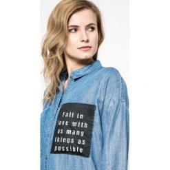 Only - Koszula. Szare koszule jeansowe damskie marki ONLY, casualowe, z długim rękawem. W wyprzedaży za 69,90 zł.