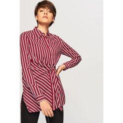 Koszula w paski - Bordowy. Czerwone koszule damskie Reserved, w paski. Za 69,99 zł.