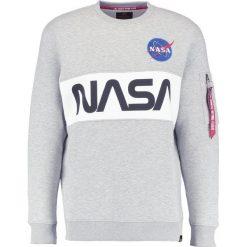 Bejsbolówki męskie: Alpha Industries NASA INLAY  Bluza grey heather