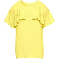 Bluzka z wycięciami na ramionach: must have bonprix jasna limonka. Żółte bluzki z odkrytymi ramionami marki Mohito, l, z dzianiny. Za 69,99 zł.