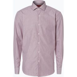 HUGO - Koszula męska łatwa w prasowaniu – C-Gordon, czerwony. Czerwone koszule męskie na spinki HUGO, m, w paski, z bawełny. Za 249,95 zł.