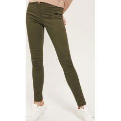 Rurki damskie: Spodnie SKINNY - Khaki