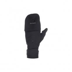 Rękawiczki-mitenki trekkingowe górskie Trek 500. Czarne rękawiczki męskie marki QUECHUA, z elastanu. Za 59,99 zł.