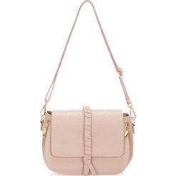 Torebki klasyczne damskie: Skórzana torebka w kolorze jasnoróżowym – 26 x 18 x 10 cm