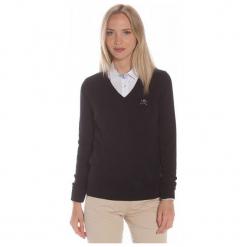 Polo Club C.H..A Sweter Damski S Czarny. Czarne swetry klasyczne damskie marki Polo Club C.H..A, s, dekolt w kształcie v. W wyprzedaży za 239,00 zł.
