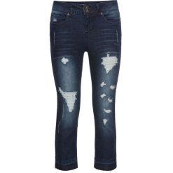 Dżinsy SKINNY, dł. 3/4 bonprix ciemny denim. Niebieskie jeansy damskie marki House, z jeansu. Za 109,99 zł.