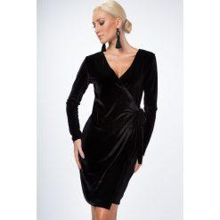 Sukienki: Sukienka zakładana czarna 1467