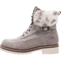 Tamaris Botki sznurowane grey. Szare buty zimowe damskie marki Tamaris, z materiału, na sznurówki. W wyprzedaży za 284,25 zł.