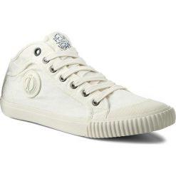 Trampki PEPE JEANS - Industry PMS30246 Off White 803. Białe tenisówki męskie Pepe Jeans, z gumy. W wyprzedaży za 169,00 zł.