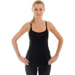 Bluzki asymetryczne: Brubeck Koszulka damska z topem czarna  r. S (CM10070)