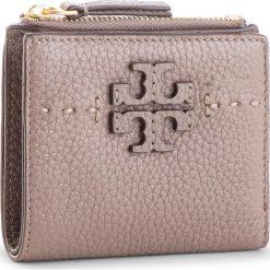 Mały Portfel Damski TORY BURCH - Mcgraw Mini Foldable Wallet 45246 Silver Maple 963. Brązowe portfele damskie Tory Burch, ze skóry. Za 599,00 zł.
