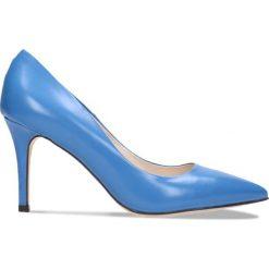 Czółenka SAVONA. Niebieskie buty ślubne damskie Gino Rossi, ze skóry, na wysokim obcasie, na szpilce. Za 299,90 zł.